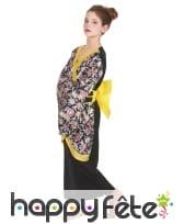 Déguisement fleuri de petite japonaise pour enfant, image 2