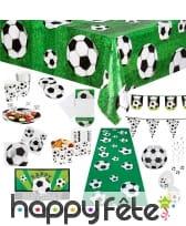 Décorations foot pour table d'anniversaire