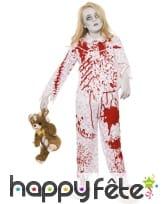 Déguisement fille pyjama zombie