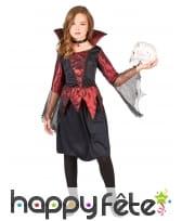 Déguisement fille vampire noir et bordeaux satiné, image 1