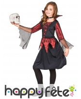 Déguisement fille vampire noir et bordeaux satiné, image 2