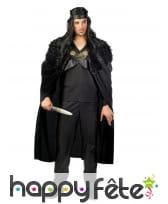 Déguisement garde de nuit médiéval noir pour homme