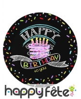 Décos gâteau Happy Birthday de table, image 1