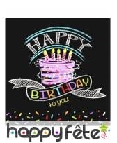 Décos gâteau Happy Birthday de table, image 2