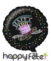 Décos gâteau Happy Birthday de table, image 4