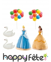 Déco gâteau Princesses Disney avec figurine, 8,5cm