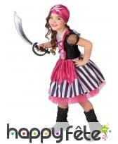 Déguisement girly rose de pirate pour fillette, image 1