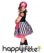 Déguisement girly rose de pirate pour fillette, image 2