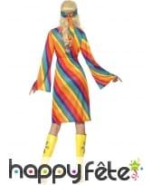 Déguisement hippie femme arc en ciel, image 1