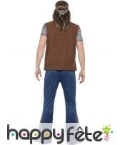 Déguisement hippie homme imprimé bleu, image 1