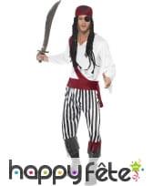 Déguisement homme pirate zebre