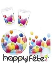 Décos imprimés ballon pour table d'anniversaire