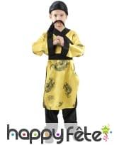 Déguisement jaune de petit chinois traditionnel