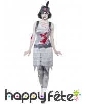 Déguisement jeune fille délurée zombie