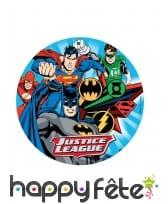 Disque Justice League en azyme de 20cm