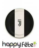 Décoration Juventus noir et blanc pour table, image 3