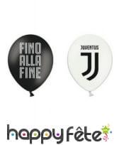 Décoration Juventus noir et blanc pour table, image 9