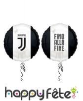 Décoration Juventus noir et blanc pour table, image 10