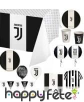 Décoration Juventus noir et blanc pour table