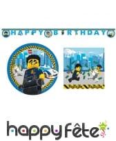Déco légo city pour table d'anniversaire