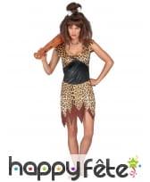Déguisement léopard de femme des cavernes