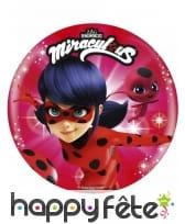Disque Ladybug Miraculous de 21 cm en sucre