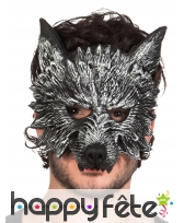 Demi masque adulte de loup garou