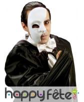 Demi-masque blanc du fantôme de l'opéra