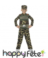 Déguisement militaire camouflage pour enfant