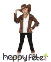 Déguisement marron de petit shérif pour garçon