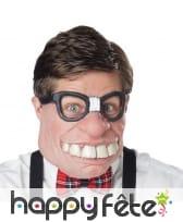 Demi masque d'intello geek