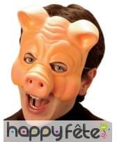 Demi-masque de cochon taille adulte