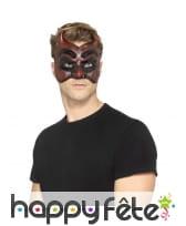Demi masque de diable avec cornes