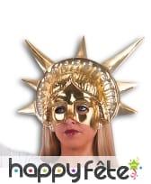 Demi-masque de la Statue de la Liberté dorée
