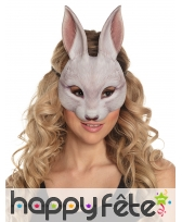 Demi masque de lapin pour adulte