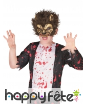 Demi-masque de loup garou pour enfant