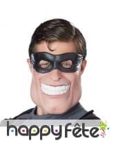 Demi masque de super dude, le super héros