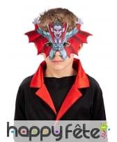 Demi-masque de vampire volant pour enfant