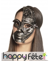 Demi masque facial Steampunk