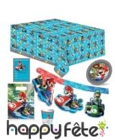 Décorations Mario Kart d'anniversaire