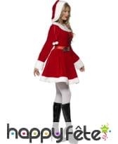 Costume miss santa rouge avec capuche, image 1