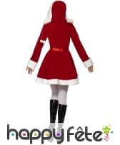 Costume miss santa rouge avec capuche, image 2