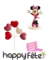 Décorations Minnie pour gâteau en kit. PVC, image 1