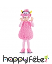 Déguisement monstre peluche rose pour enfant