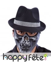 Demi-masque skull pour adulte