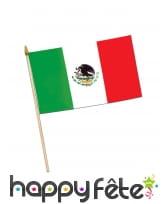 Drapeau Mexique sur tige, 43 x 30cm