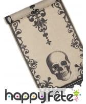 Déco motif tête de mort pour table de Halloween, image 2