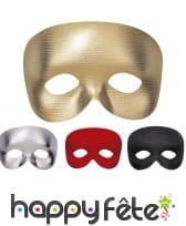 Demi-masque uni avec élastique