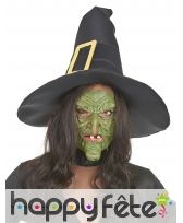 Demi masque vert d'horrible sorcière