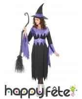 Déguisement noir et violet de sorcière pour adulte, image 1